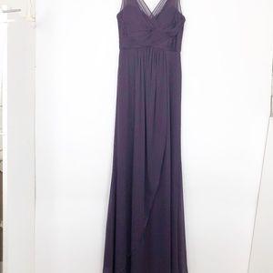 Adrianna Papell Womens 2 Purple Evening Gown Dress